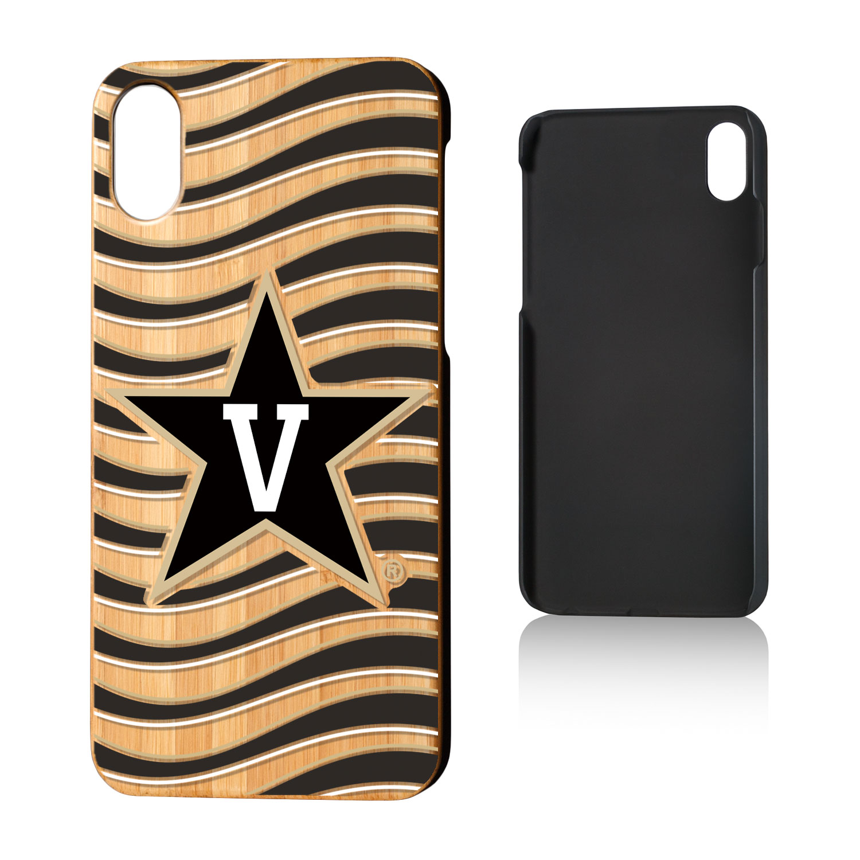 VU Vanderbilt Commodores Wave Bamboo Case for iPhone X