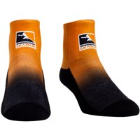 Overwatch League Gear Rock Em Socks Women's Dip Dye Quarter-Length Socks - Orange/Black - S/M