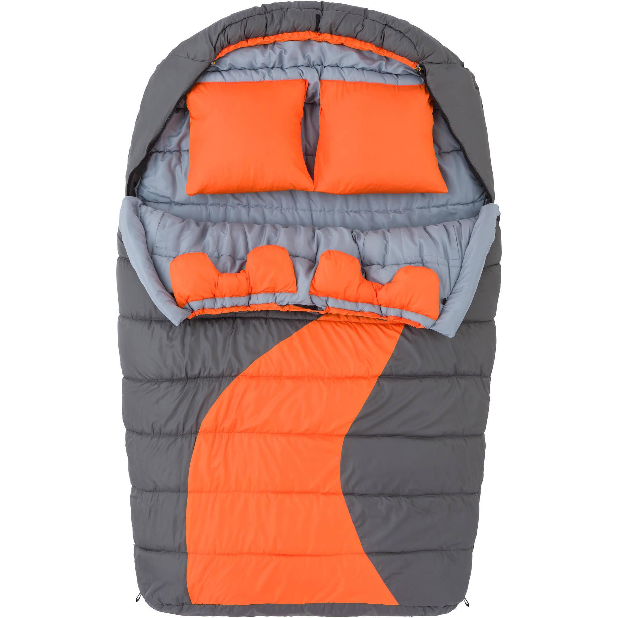 Ozark Trail 20F degree Cold Weather Double Mummy Sleeping ...