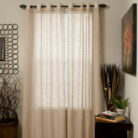 Somerset Home Mia Jacquard Grommet Curtain Panel