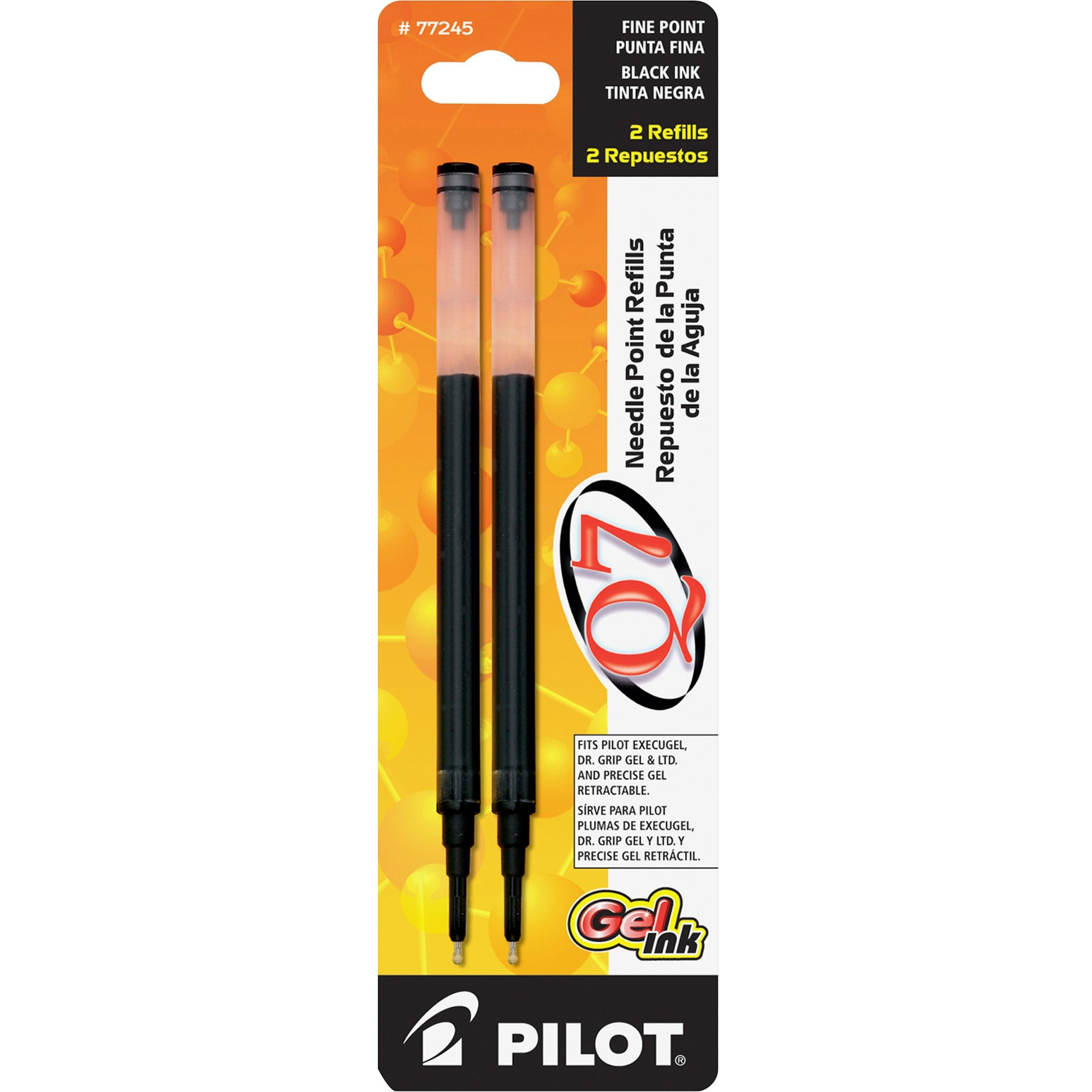 Pilot Q7 Retractable Needle Gel Refill, 2 / Pack (Quantity)