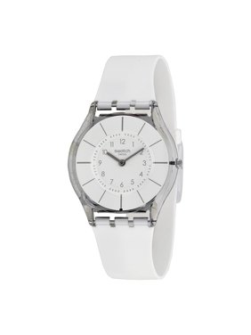 Swatch Women's Skin White Silicone Watch SFK360