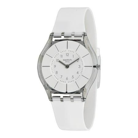 - Swatch Women's Skin White Silicone Watch SFK360