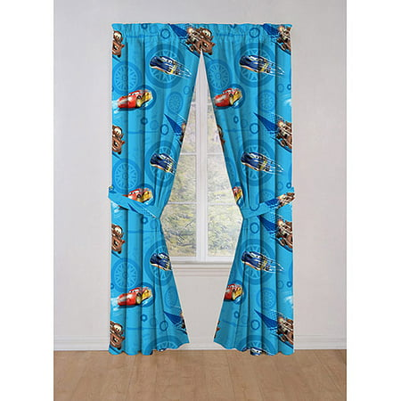 Disney Cars Boys Bedroom Curtains Set Of 2 Panels Amp Tie