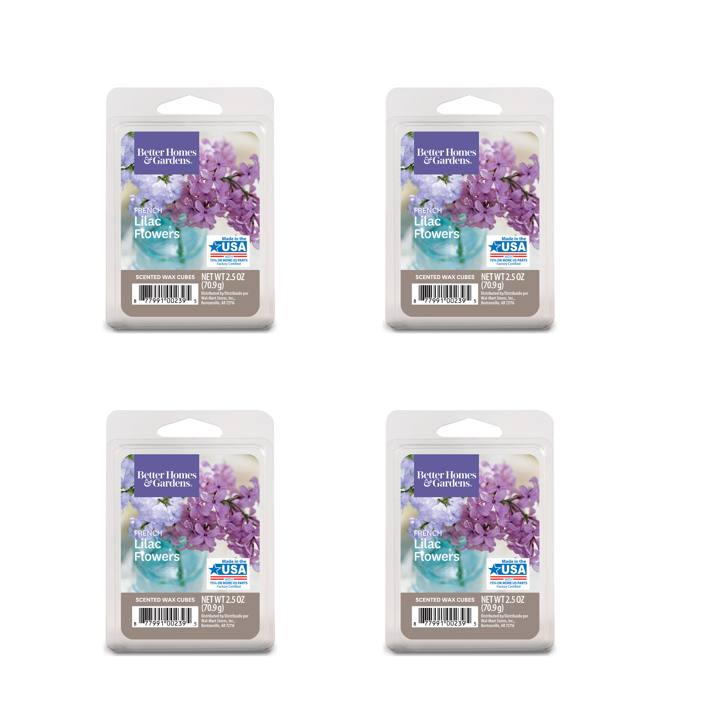 MAINSTAYS Scented WAX CUBES LILAC BREEZE 2 Packs