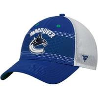 Vancouver Canucks Fanatics Branded Iconic Grid Trucker Adjustable Hat - Blue/White - OSFA