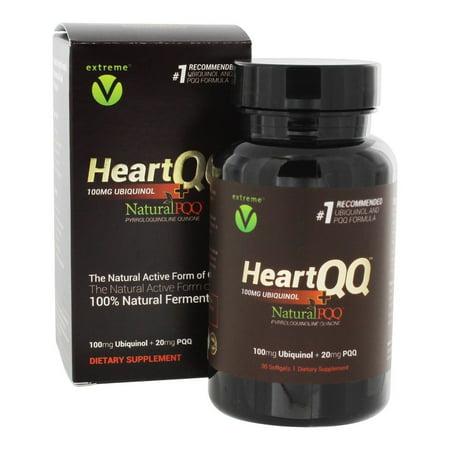 (Extreme V - Heart QQ Heart & Cardiovascular Support PQQ 20 mg. + Ubiquinol 100 mg. - 30 Vegetarian Softgels)