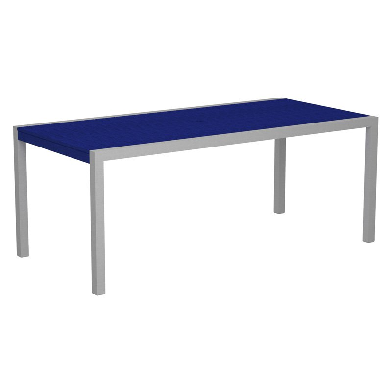 POLYWOOD® MOD 36 x 73 in. Dining Table with Aluminum Frame