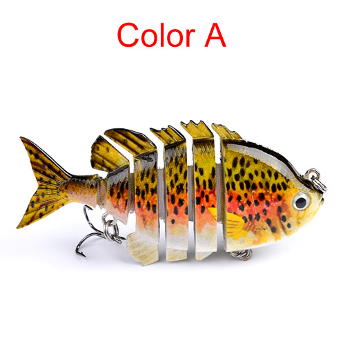 Plastic Swimbait Lures Crankbaits Baits Hard Bait Fishing Lures Color:C by