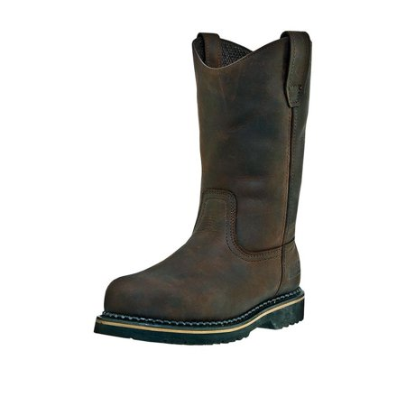 Men Wellington Boots - McRae Industrial Work Boots Mens Wellington Steel Toe Brown MR85344