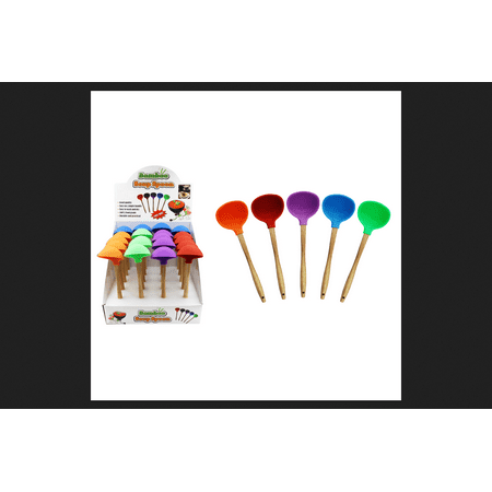 Home Plus Ladle Bamboo/Silicone Assorted