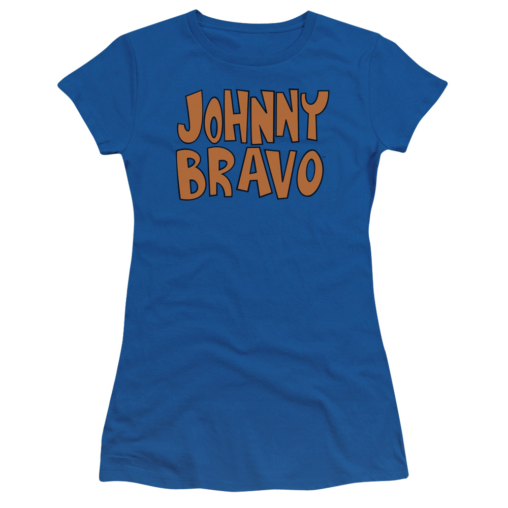 Johnny Bravo Jb Logo Juniors Short Sleeve Shirt
