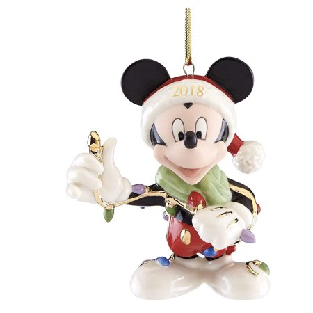 Lenox 2018 Merry and Bright Mickey Ornament - Lenox Christmas Gifts