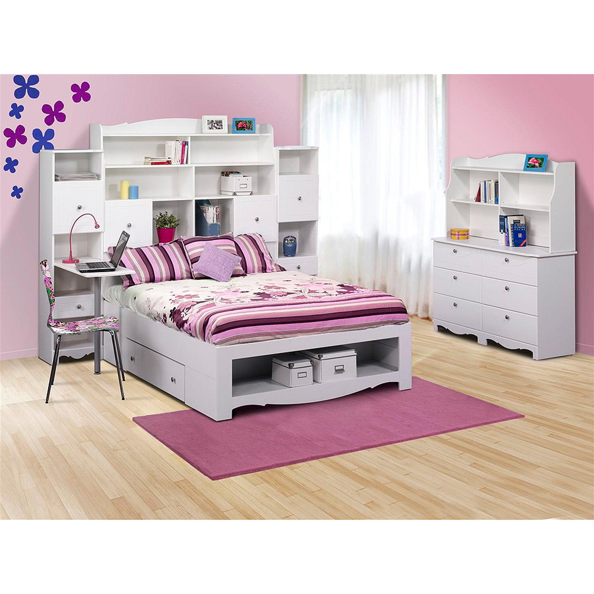 Nexera 315403 Dixie Pixel 2 Drawer Storage Bed  Full  White   Walmart com. Nexera 315403 Dixie Pixel 2 Drawer Storage Bed  Full  White