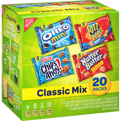 Nabisco Classic Mix Cookies & Crackers, 1 oz, 20 count