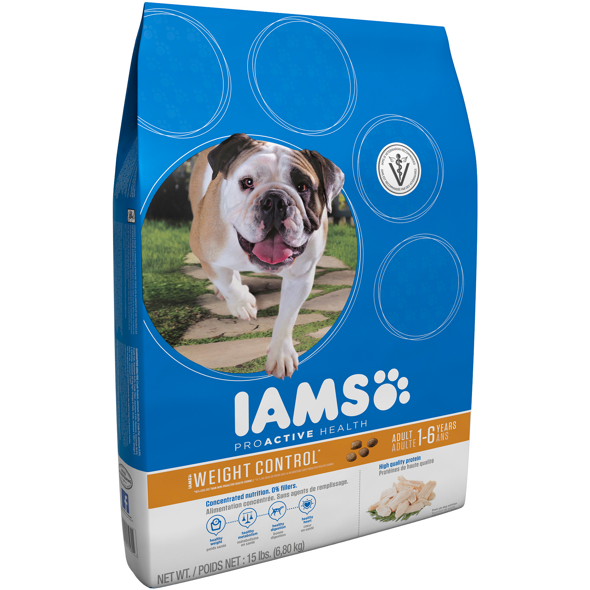 Iams ProActive Health Adult Weight Control Premium Dog Food 15 lbs
