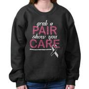 Breast Cancer Awareness Shirt Grab Pair Show Care Pink Ribbon Sweatshirt