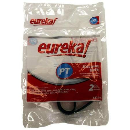 Eureka Canister World Vac Power Nozzle Type PT Flat Belts 2 Pk Part # 52201G-12