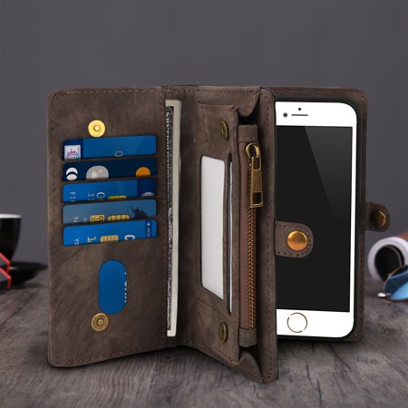 on sale ef7e3 8b37c iPhone 8 Plus Wallet Case (Dark Brown)
