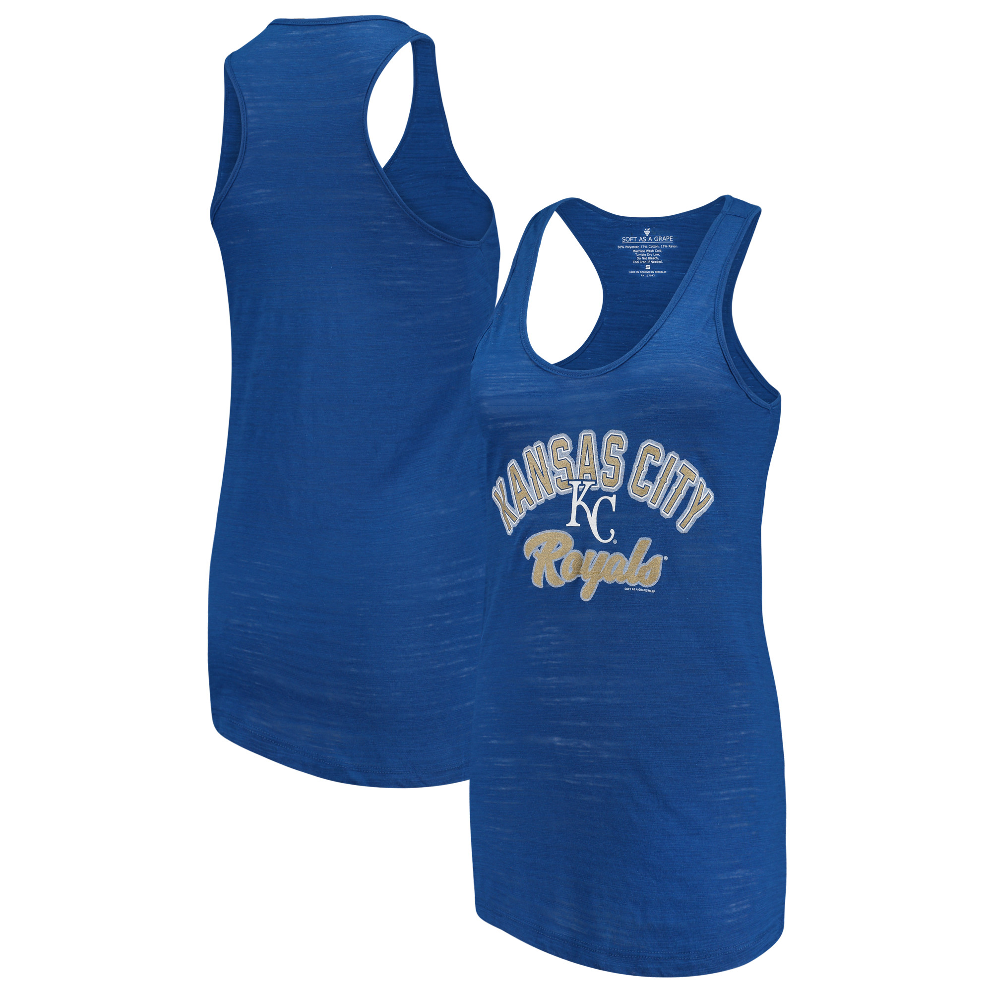 Kansas City Royals Soft as a Grape Women's Multicount Racerback Tank Top - Royal