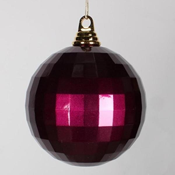"Vickerman 5.5"" Eggplant Mirror Ball Christmas Ornament - image 1 de 1"