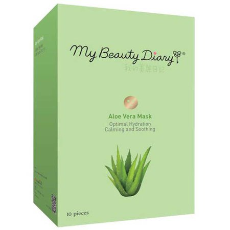 My Beauty Diary Aloe Vera Face Mask, 10 count