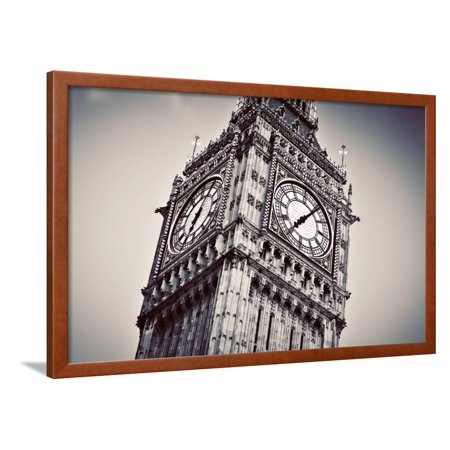 Big Ben, the Bell of the Clock close Up. the Famous Icon of London, England, the Uk. Black and Whit Framed Print Wall Art By Michal Bednarek Big Ben Clock Bell