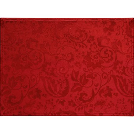 Better Homes And Gardens Paisley Damask Placemat Red