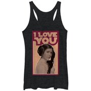 Star Wars Women's Princess Leia Quote I Love You Racerback Tank Top