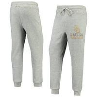 Men's Gray Baylor Bears Curb Tri-Blend Cuffed Pants