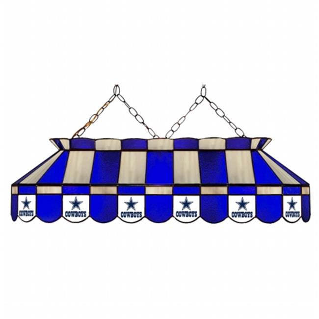 Imperial Billiards IMP-18-1002 Dallas Cowboys NFL Billiards Stained Glass Lamp, 40 inch