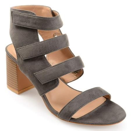 88186de631a7 Brinley Co. - Women s Caged Faux Suede Cut-out Heel Strappy Sandals -  Walmart.com