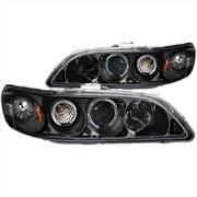ANZO 121053 Honda Accord 98-02 Projector Headlights G2 Halos Black Clear