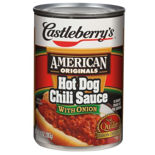 Castleberry's American Originals Hot Dog Chili Sauce with Onion, 10 oz