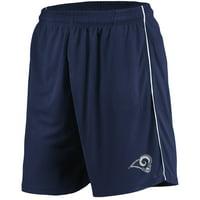 Men's Majestic Navy Los Angeles Rams Mesh Shorts