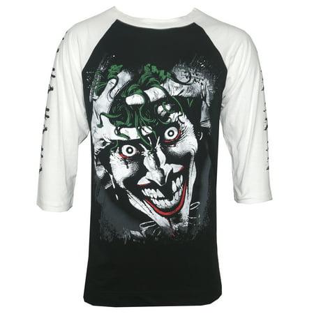 DC Comics Killing Joke Men's Raglan T-Shirt Black - Adult Joke Comics