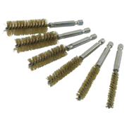 Twisted Wire Bore Brush Set Brass