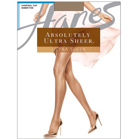 Hanes Absolutely Ultra Sheer Control Top Sheer Toe Pantyhose -