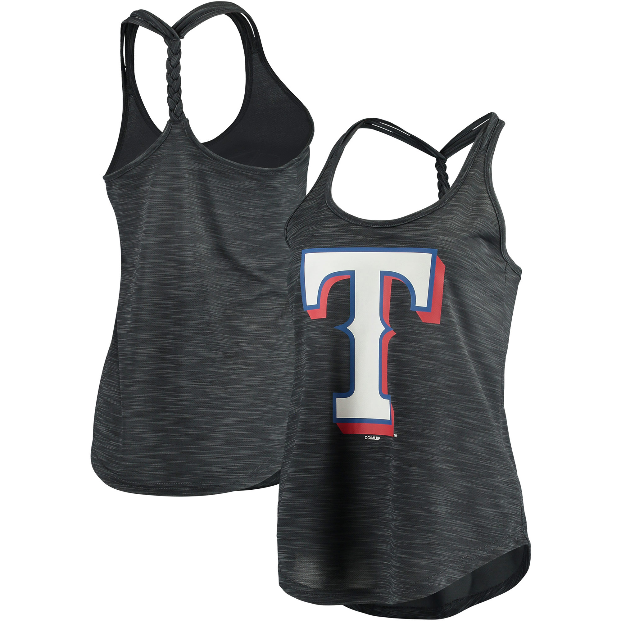 Texas Rangers Concepts Sport Women's Snapback Tank Top - Heathered Charcoal