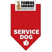 BANDANA - Service Dog for Medium to Large Dogs - red