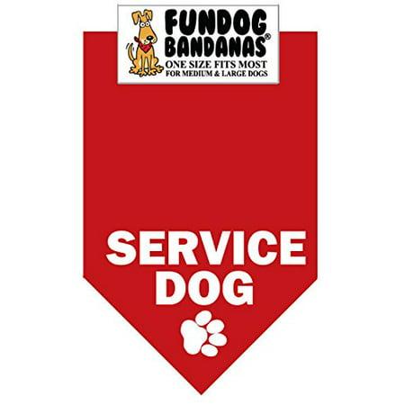 BANDANA - Service des chiens pour chiens grand à moyen - rouge