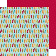 """Fall Friends Double-Sided Cardstock 12""""X12""""-Fall Feathers"""