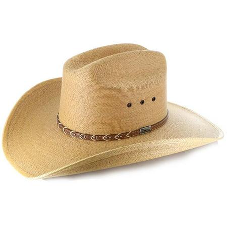 Larry Mahan Saltillo Natura Straw Cowboy Hat Size 7 1 4 - Walmart.com 723b251a030
