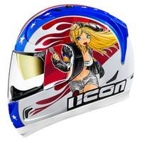 Icon Alliance GT DC18 Glory Mens Full Face Helmet Red/White/Blue