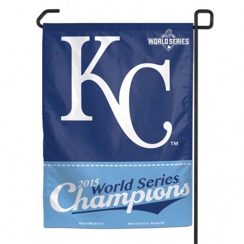 Kansas City Royals Official MLB 10 inch  x 7.5 inch  Flag Garden World Series Champion by Wincraft, Inc.