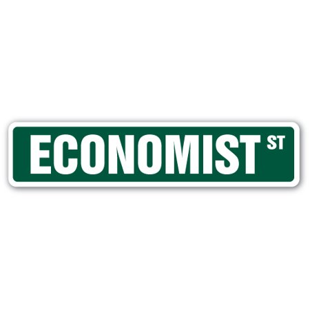 Economist Street Sign Finance Banking Banker Investment Gift