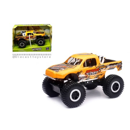 NEW RAY 1:24 DIE-CAST XTREME OFF-ROAD BAJA 4X4 WITH SUSPENSION (ORANGE)