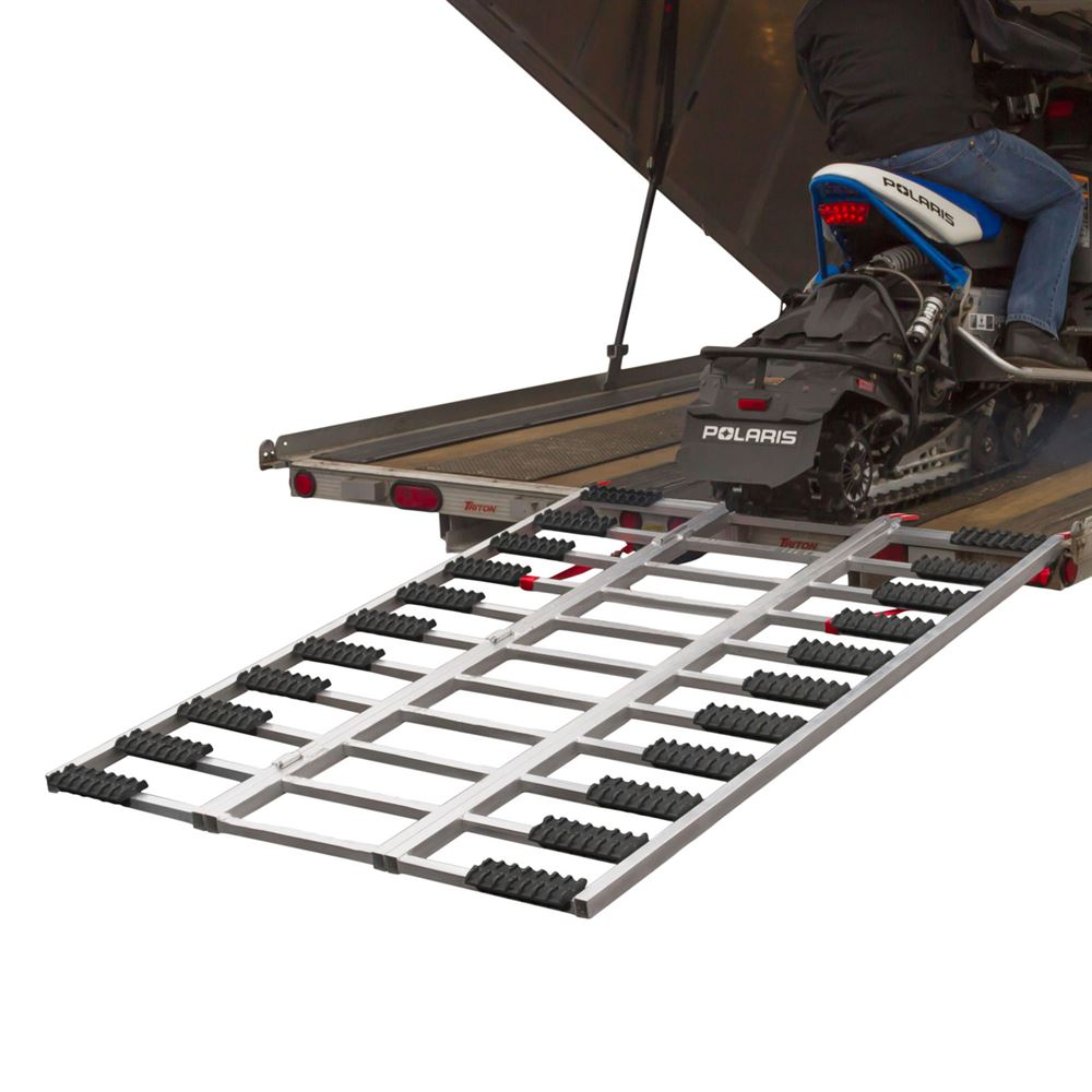 """Aluminum Snowmobile Trailer Loading Ramp with Grip Glides 77"""" x 54"""""""