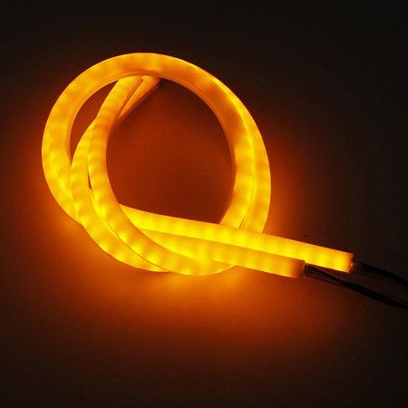 2pcs 60cm Flexible Car Soft Tube LED Strip Light DRL Sequential Turn Signal Lamp - image 5 de 9