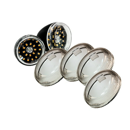 Set (4) OZ-USA? Clear Turn Signal Lens Deuce-Style Snap On Replacement Lens for Harley 2002-2013 Street Glide FLHX